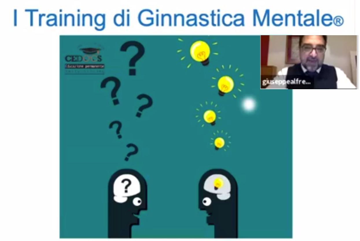 Video-conferenza, argomento: training di ginnastica mentale